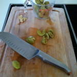 Pitting Olives the Easy Way