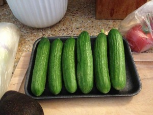 Miniature English Cucumbers