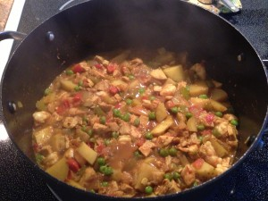 Curried Turkey and Potatoes